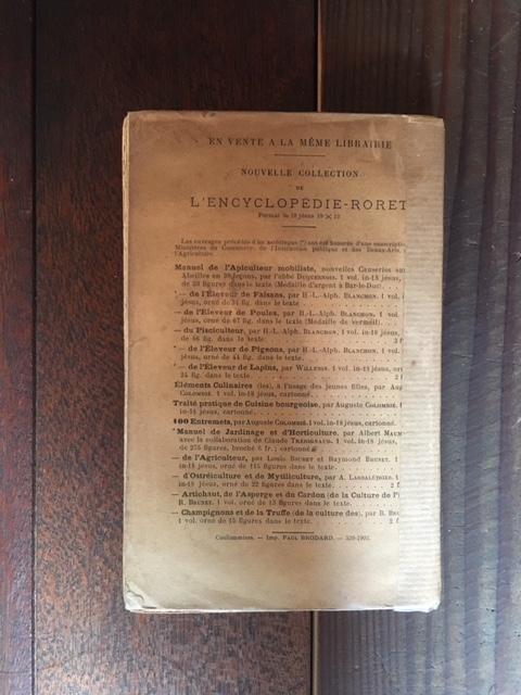 英国アンティークのいちごの栽培本裏表紙