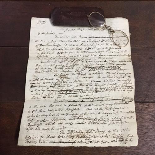 英国アンティークの古い手紙