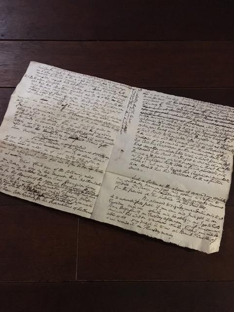 英国アンティークの古い手紙見開き
