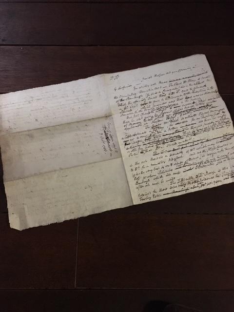 英国アンティークの古い手紙見開き裏面