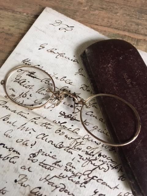 英国アンティーク鼻眼鏡&ケース