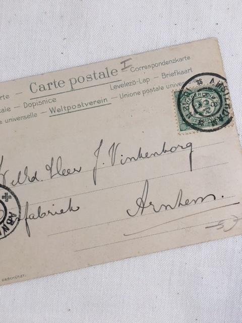 オランダアンティークのポストカード裏面