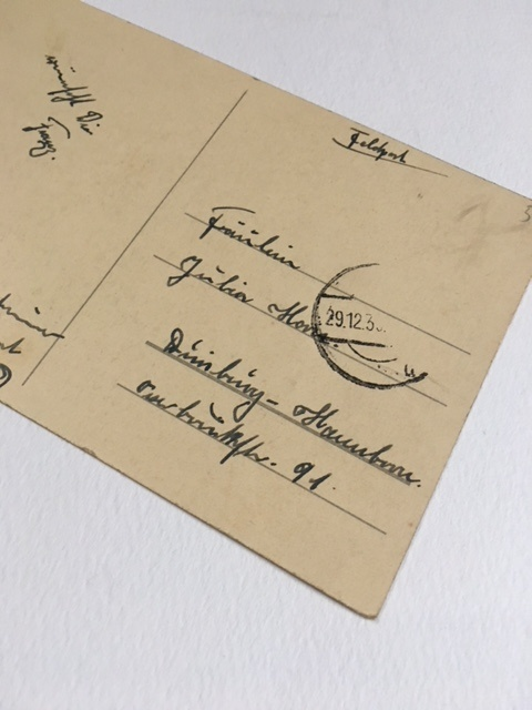 ドイツアンティークのポストカード裏面