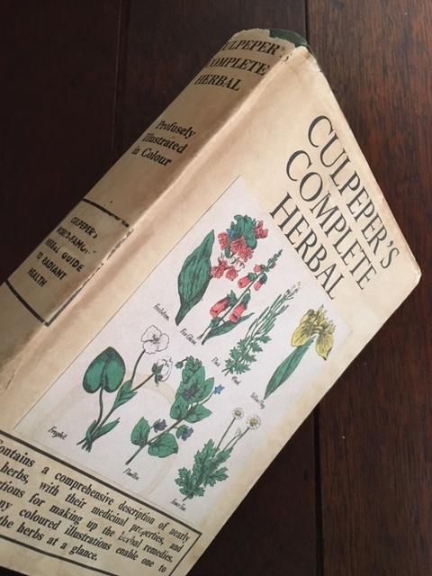 英国ヴィンテージCULPEPERハーブの本