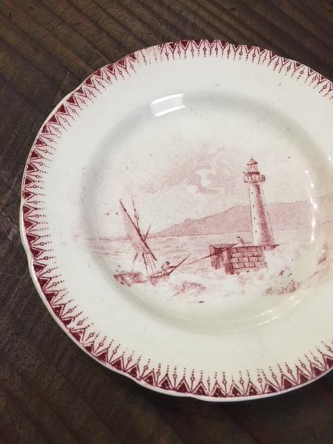 フランスヴィンテージの小さな絵皿