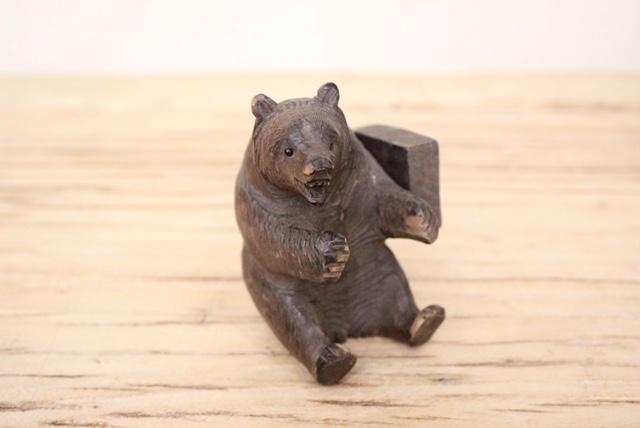 英国ヴィンテージのクマのブックエンド表情