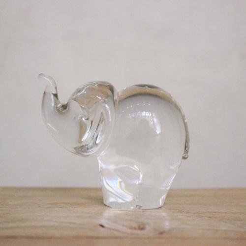 英国ヴィンテージのガラスのゾウさん