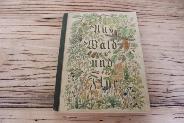 ドイツヴィンテージの植物スクラップ本の表紙