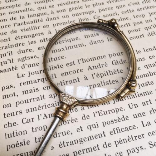 フランスアンティークの拡大鏡