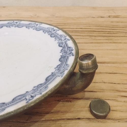 オランダヴィンテージのウォーマープレート給湯口