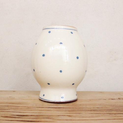 英国ヴィンテージのドット柄花瓶