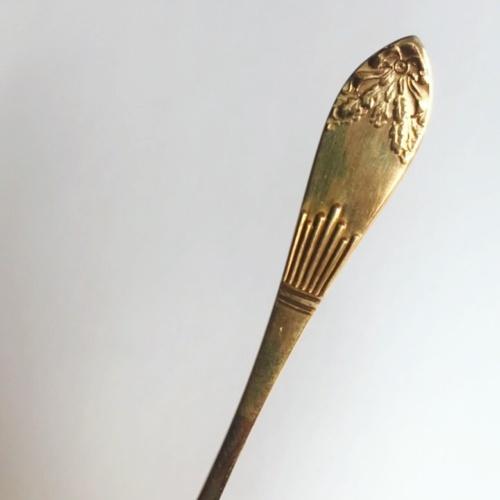 英国ヴィンテージのゴールド色スプーンセットスプーンの柄
