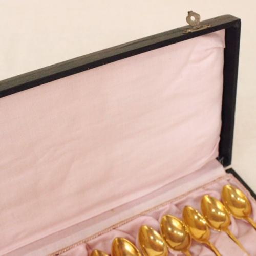 英国ヴィンテージのゴールド色スプーンセット