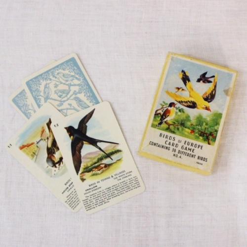 イギリスヴィンテージの鳥のカードゲーム