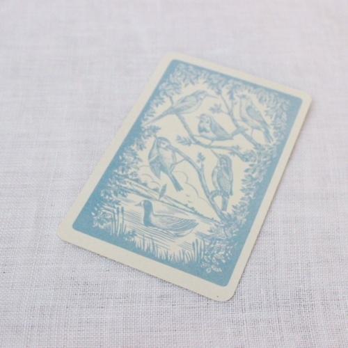 イギリスヴィンテージの鳥のカードゲームのカード裏面