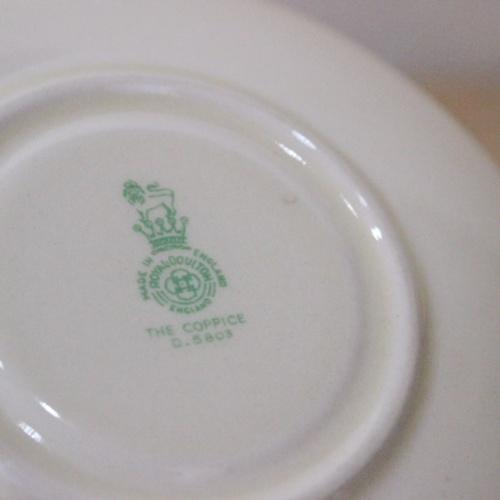 英国ヴィンテージRoyal Doultonのカップ&ソーサーのソーサー裏面