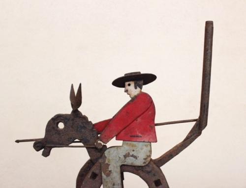 英国ヴィンテージの蹄鉄のカウボーイオブジェの表情