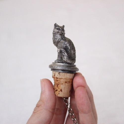 英国ヴィンテージの猫のボトルキャップ