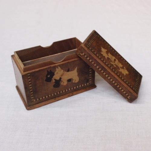 英国ヴィンテージの嵌め木細工の木製ボックス