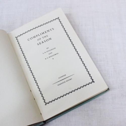 英国ヴィンテージのPENGUIN BOOKSクリスマスのご挨拶中身