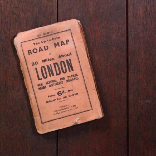 英国ヴィンテージのロンドンの地図の表紙