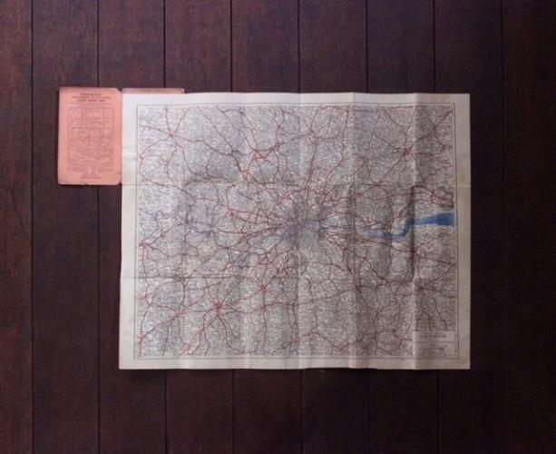 英国ヴィンテージのロンドンの地図中身