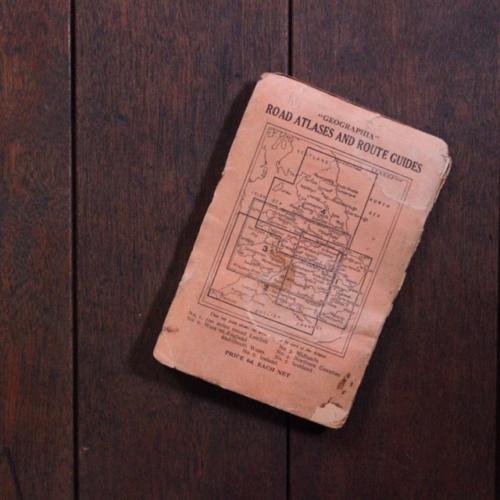 英国ヴィンテージのロンドンの地図裏表紙