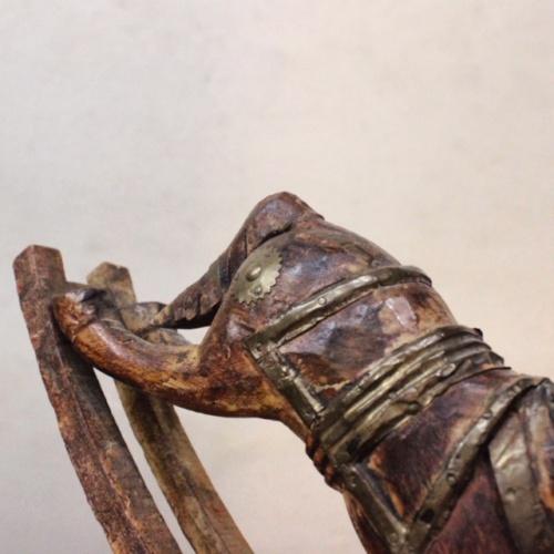 英国ヴィンテージの手彫りのロッキング木馬胴体