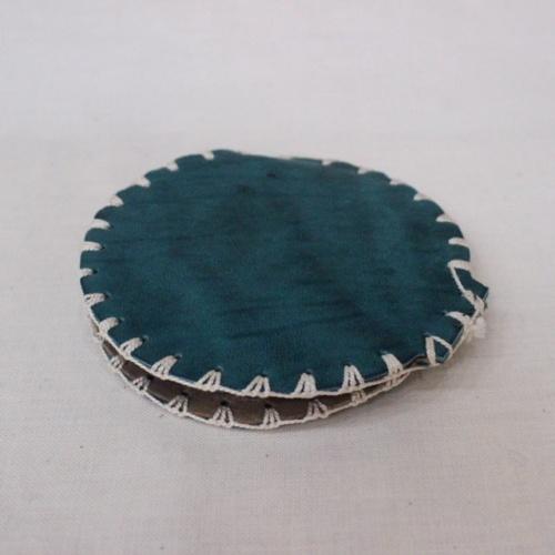 スコットランドヴィンテージのアザミ柄の革の針刺し裏面