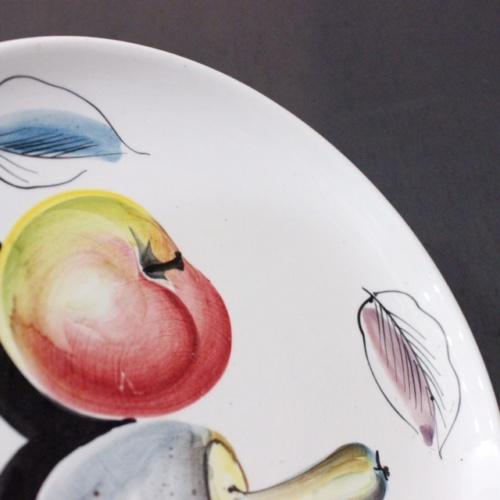 イタリアヴィンテージのキノコの絵柄のプレート